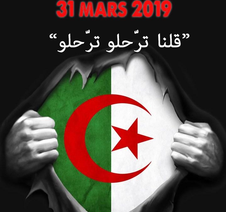 Manifestation contre le système Bouteflika à Marseille ce dimanche 31 mars à 14h00 à la Porte d'Aix