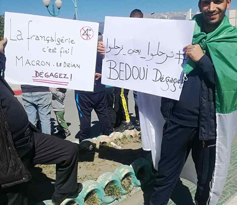 Algérie : grande manifestation en ce moment dans la wilaya de Bouira contre la mafia maçonnique