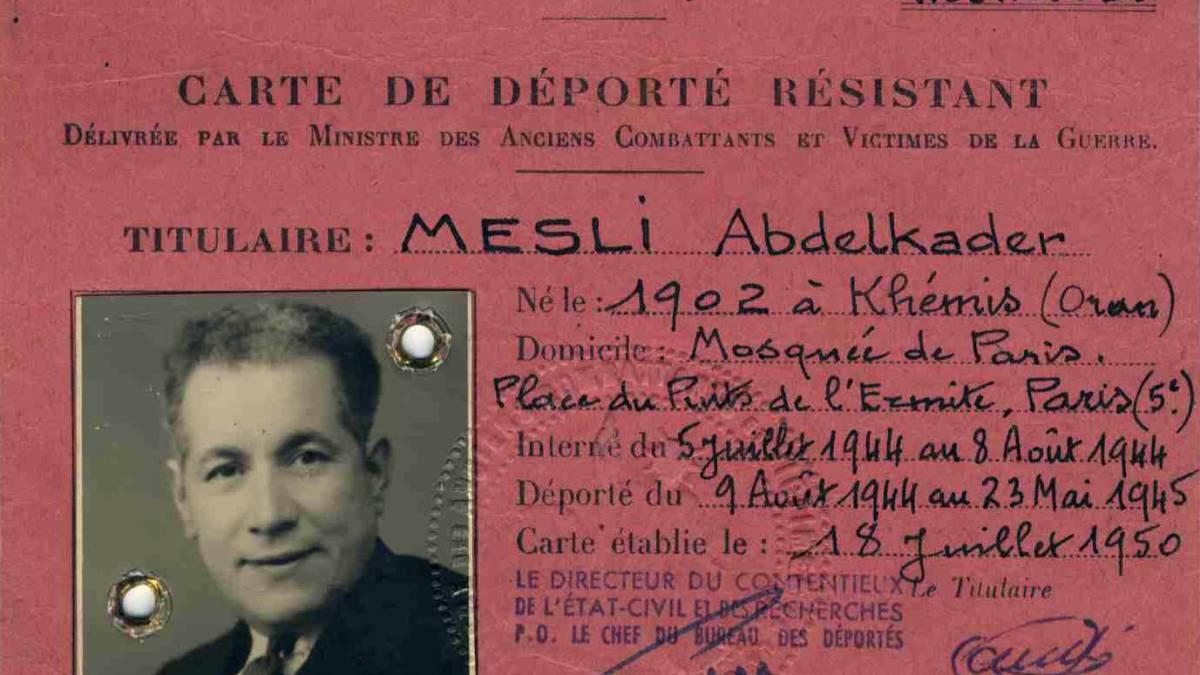 L'imam Abdelkader Mesli, sauveur de juifs séfarades traqués par la Gestapo !