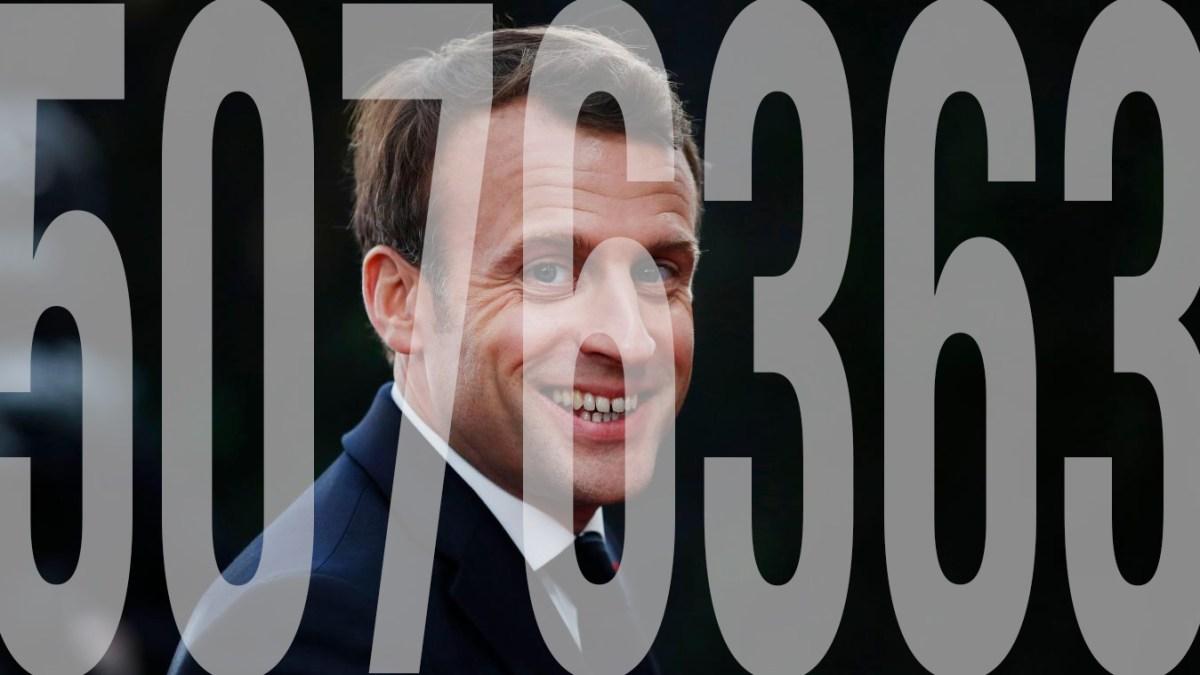 Folie : 5.076.363 Français ont quand même voté pour Macron !
