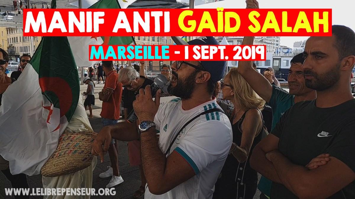 Manifestation marseillaise contre le système corrompu en Algérie (1er sept. 2019)