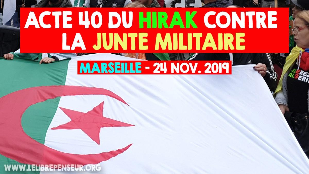 40e manifestation marseillaise contre le système corrompu en Algérie (24 nov. 2019)