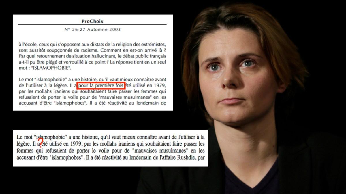 Islamophobie : quand Caroline Fourest supprime des mots dans son texte de 2003