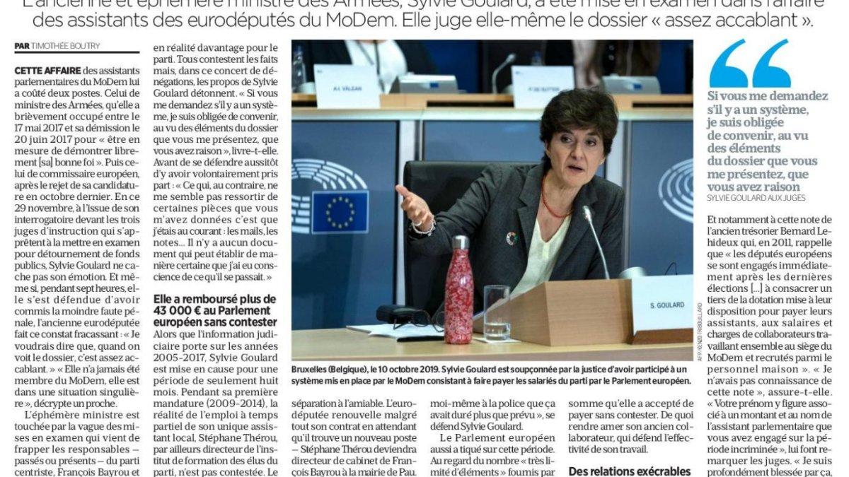 FX : Sylvie Goulard plaide l'inconscience, la naïveté !