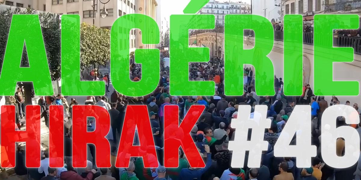 Algérie : 46e Hirak massif du vendredi 3 janvier 2020 ! [vidéos + photos]