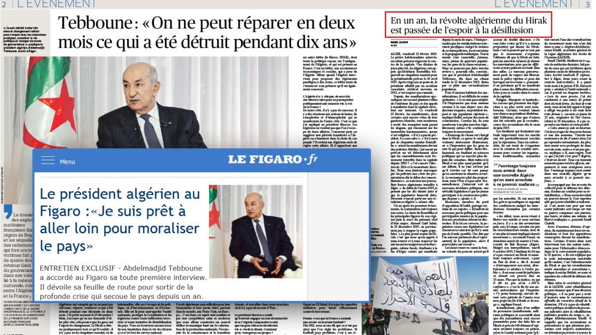 France-Algérie : interview lamentable de Tebboune par le Figaro !