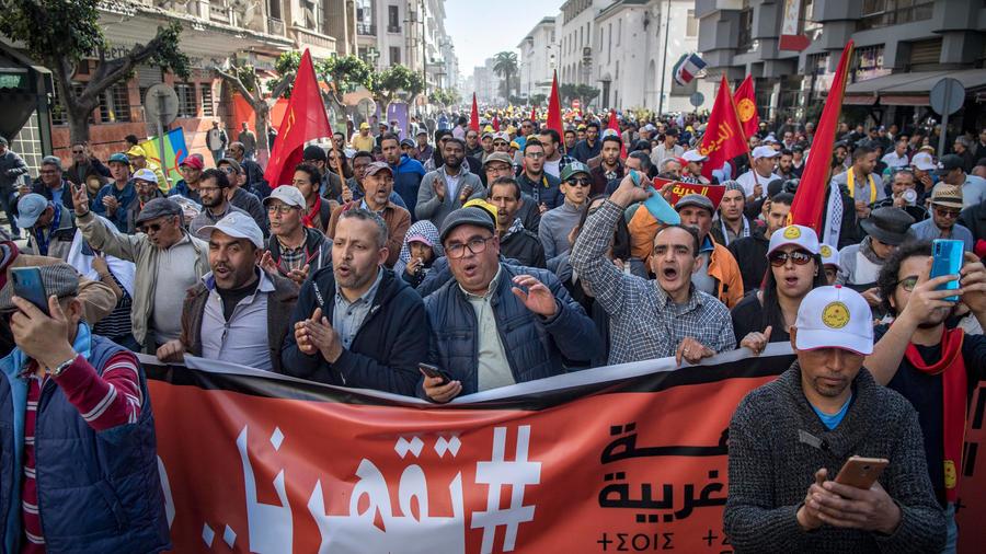 Maroc : une manifestation à Casablanca contre les inégalités et pour la démocratie