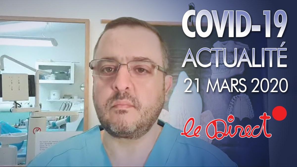 Coronavirus : Actualités du 20 mars 2020 – Urgences dentaires