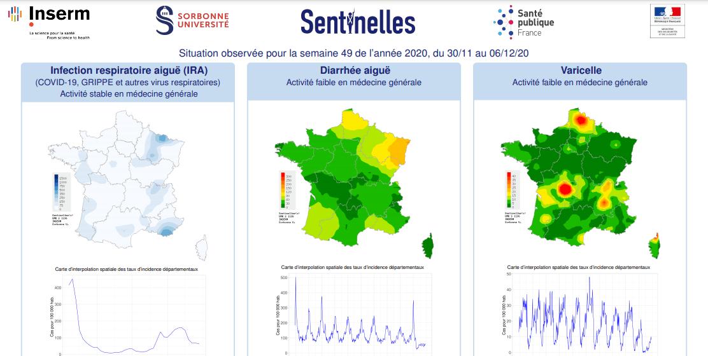 Covid-1984 : les données Sentinelles montre un taux d'incidence à 11/100.000 en semaine 49 !