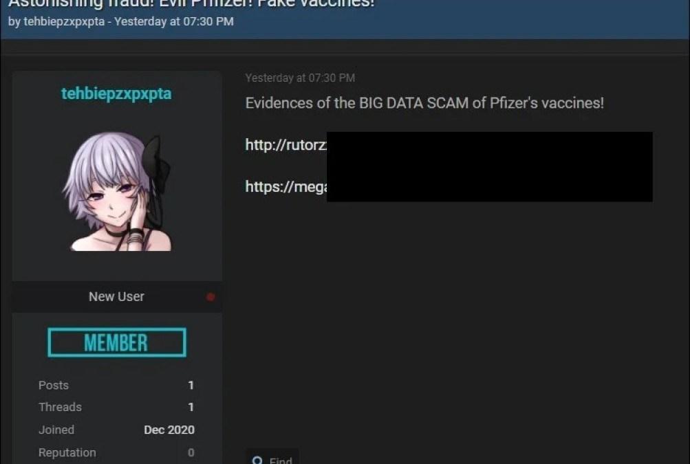 Covid-19 : les données volées sur le vaccin de Pfizer/BioNTech fuitent sur la Toile !