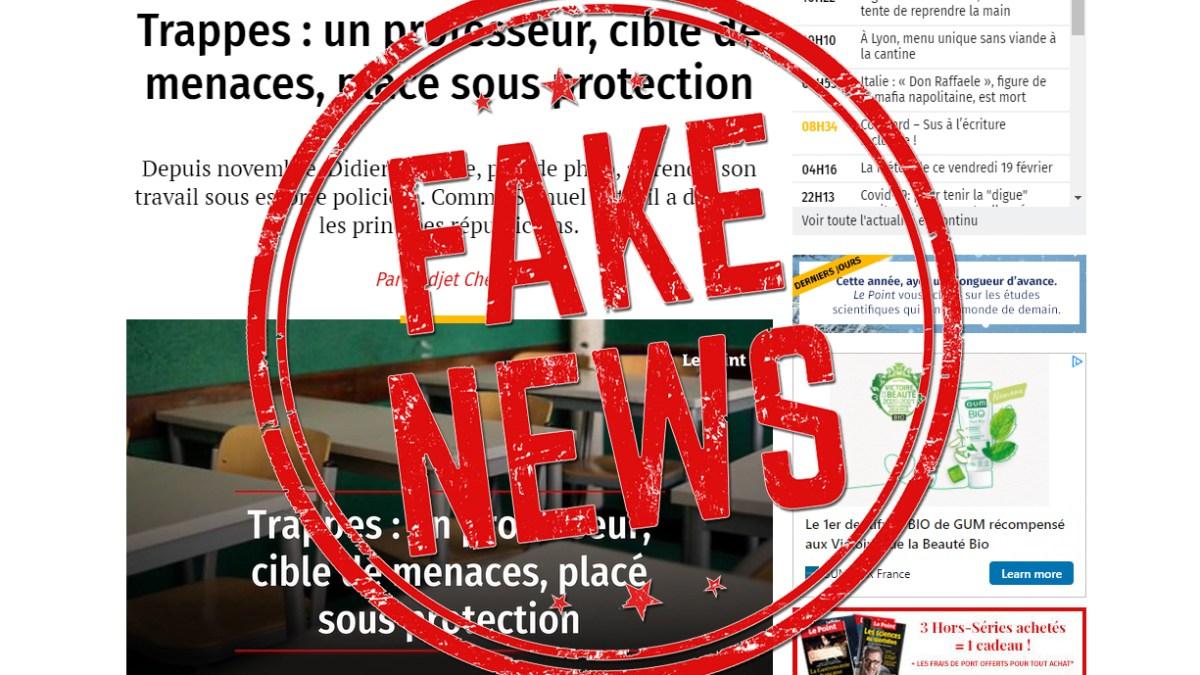 Quand le Point publie une fake news et trouble l'ordre public !