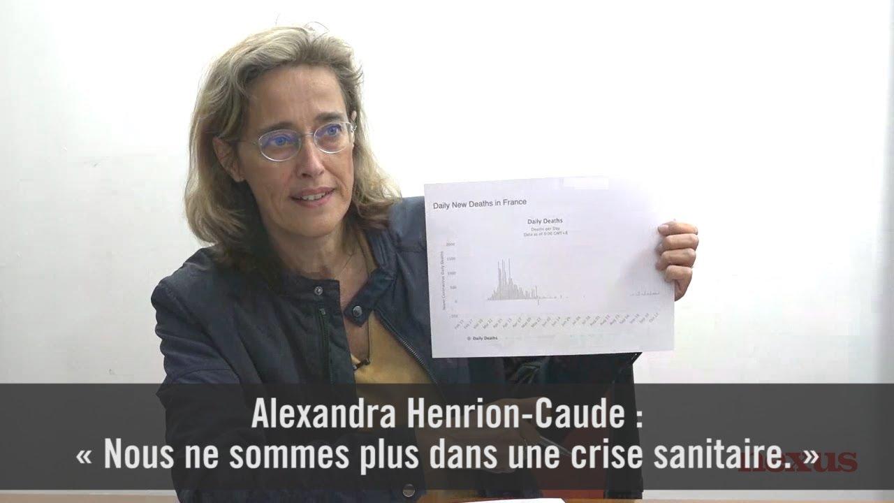 Alexandra Henrion-Caude : « Nous ne sommes plus dans une crise sanitaire. »  – Le Libre Penseur