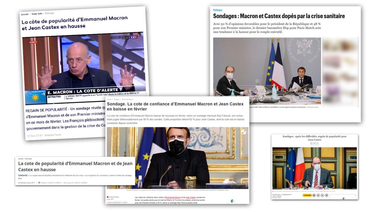 Propagande : faux sondages à la rescousse du couple Macron/Castex !