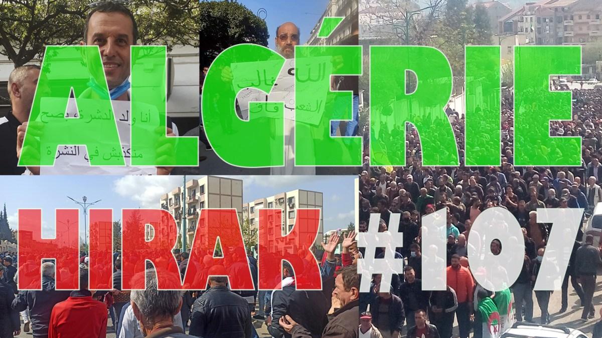Algérie : des tsunamis de manifestants pour le 107e Hirak ! [vidéos + photos]