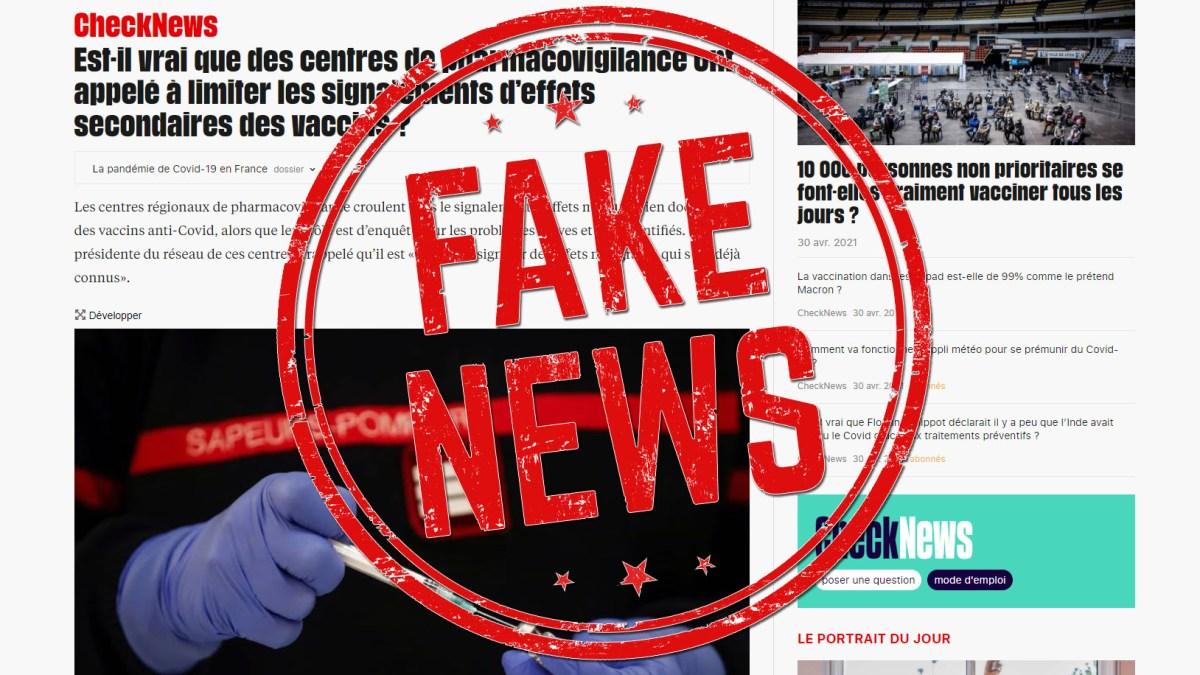 Vaccination Covid19 : la nécessaire rectification des affirmations « inexactes » (contraires à la « loi ») diffusées par le journal « Libération – CheckNews »