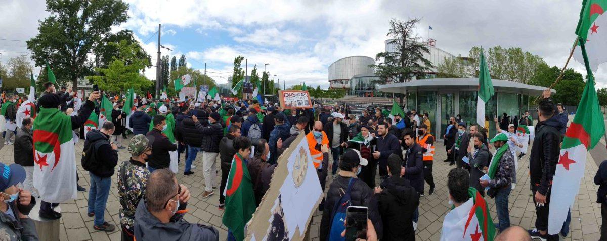 Rassemblement de soutien à la « révolution pacifique algérienne » devant le Parlement européen