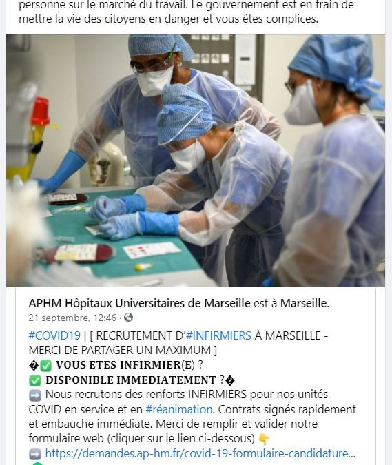 Covid-19 : à Marseille, l'AP-HM recrute des soignants à l'hôpital !