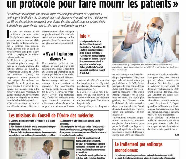 Antilles : des médecins estiment qu'on leur demande de participer à des activités criminelles