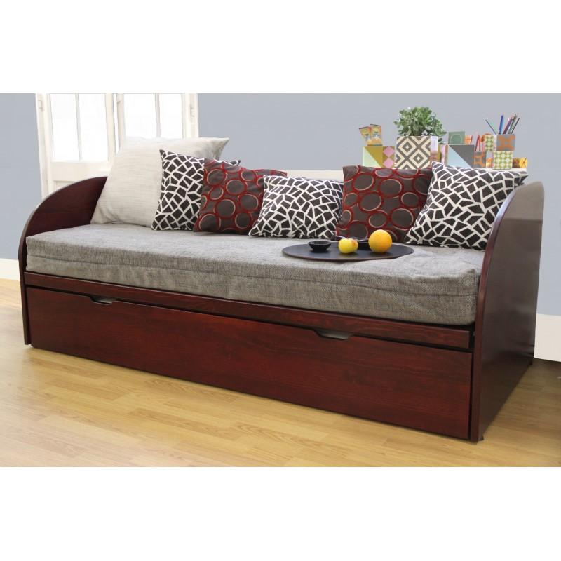 lit gigogne en bois massif pour bien