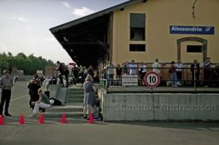 Ankomst till Alessandria Italien
