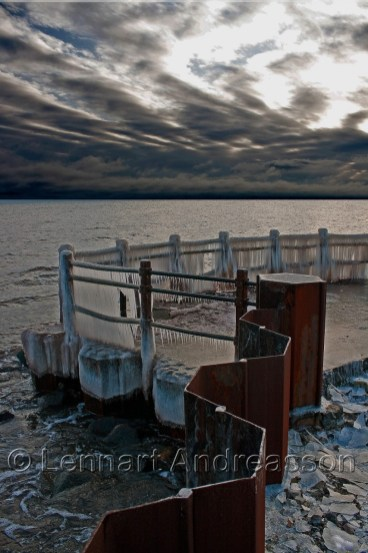 Utkiken Smygehuk i vinterskrud