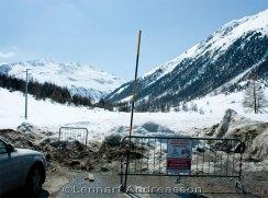 Vägen till Berninapasset avstängd av lavin