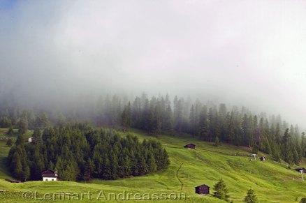 Regnmolnen löses upp över Livigno