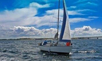 Segling vid Öresundsbron