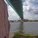 Vy över älven vid Röda Sten under Älsborgsbron