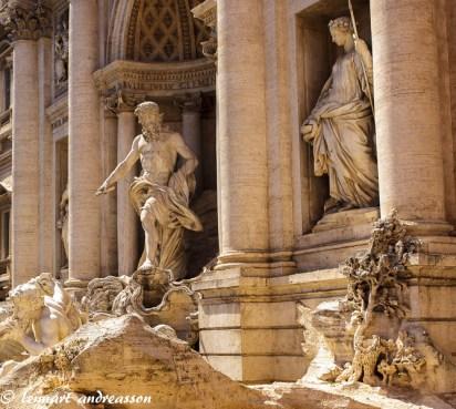 Detaljbild Fontana de Trevi