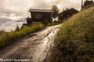 Exempel på väg uppför berget, Sevelen Schweiz