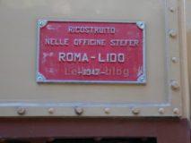 Treni e Tranvie di Roma: Locomotore 05 Roma-Lido, targa della ricostruzione