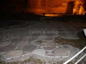 Di notte a Caracalla: mosaici pavimentali
