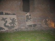 Alle Terme di Caracalla di notte: mosaici di ambiente marino