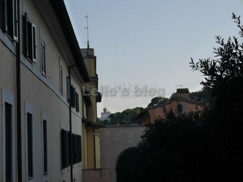 Casino De Rossi: vista sul Gianicolo con la Fontana dell'Acqua Paola