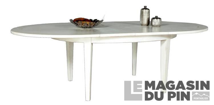 table ovale avec allonges