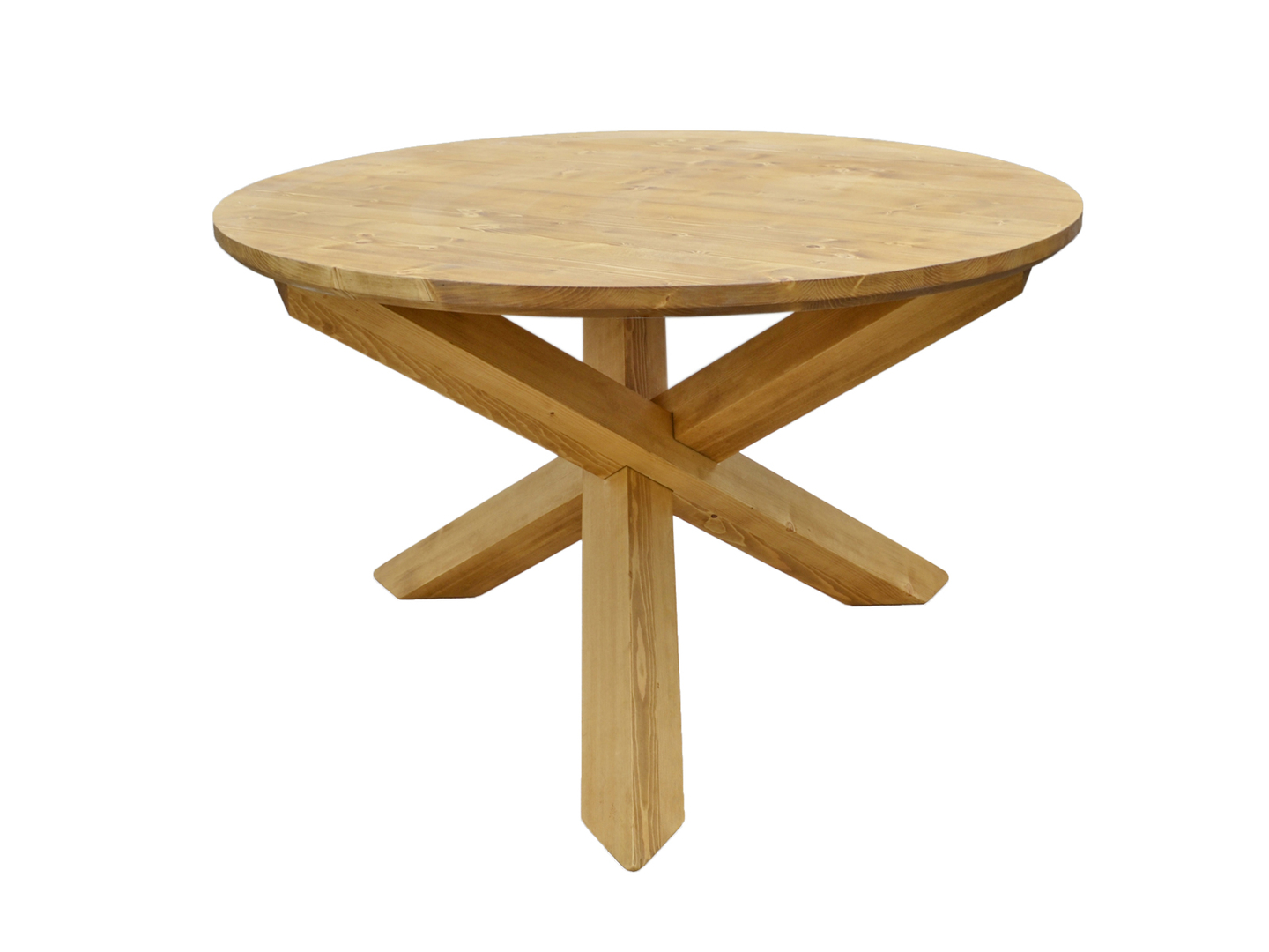table repas ronde o125 pieds croix
