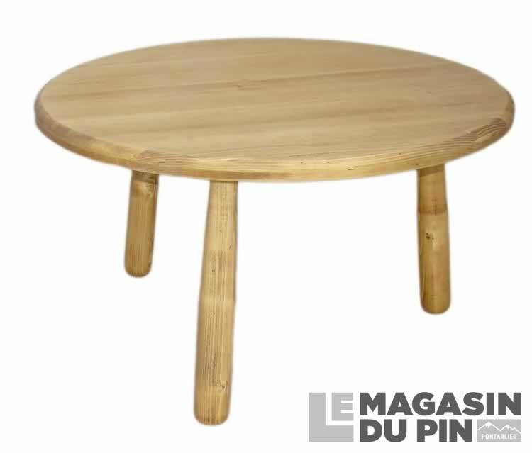 table basse ronde diametre 80 cm