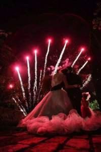 feu d'artifice de mariage