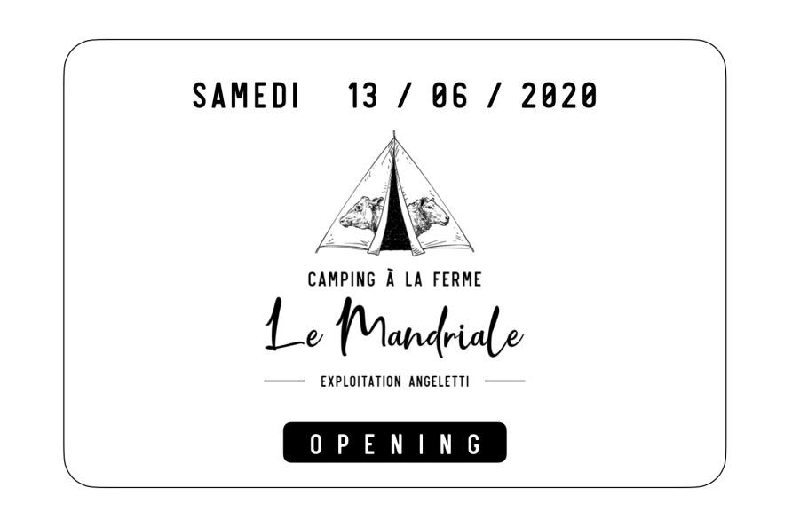 Opening 2020 Camping à la Ferme Le Mandriale à Cargese, Corse-du-Sud