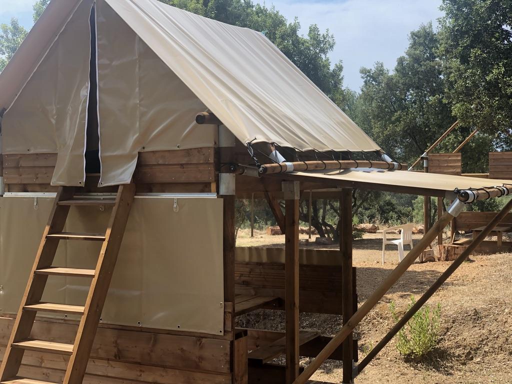Bivouacs - Camping à la Ferme Le Mandriale à Cargese, Corse-du-Sud