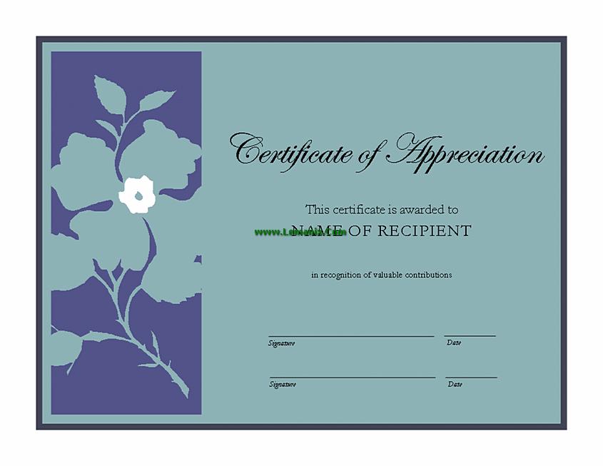 Templates Award Microsoft Publisher Certificate