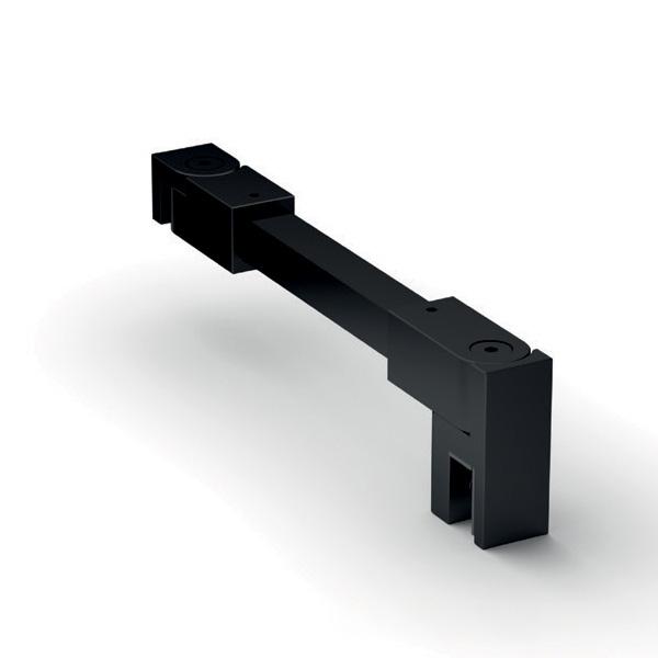 kit profile alu noir pour verre 8mm avec joint d etancheite