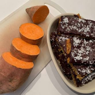fondant chocolat et patate douce
