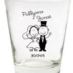 Copo de Vidro Jonas e Pollyana