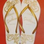 Chinelos para casamento Flavia e Guilherme