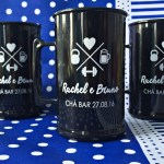 Canecas de acrilico personalizadas Rachel e Bruno