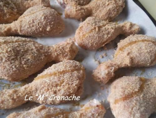 cosce di pollo panate