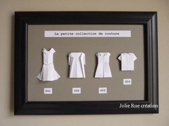 DIY Tableau en origami avec des petits vêtements