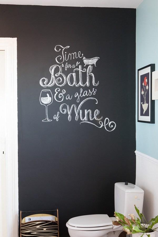 diy comment crire la craie sur un mur comme une artiste le meilleur du diy. Black Bedroom Furniture Sets. Home Design Ideas